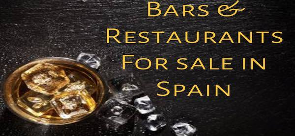 Bars and resturants for sale in Spain