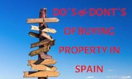A Guide to the do's and do don'ts of buying property in Spain with www.propertiesforsaleinspain.com