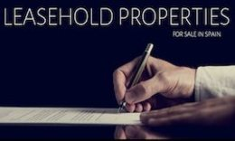 Properties for sale in Spain - Leasehold properties for sale in Spain