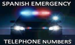 Emergency contact numbers in Spain